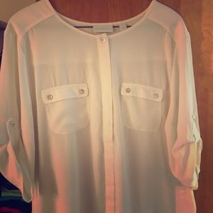 Blouse sheer New York and company